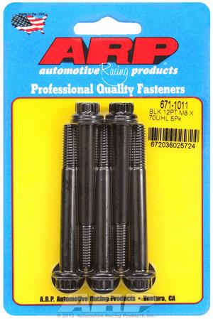 ARP M8 x 1.25 x 70 12pt black oxide bolts 6711011