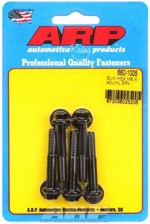 ARP M6 x 1.00 x 40 hex black oxide bolts 6601005