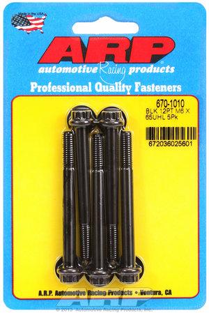 ARP M6 x 1.00 x 65 12pt black oxide bolts 6701010