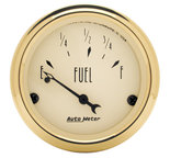 "Autometer Gauge, Fuel Level, 2 1/16"", 73?E to 10?F, Elec, Golden Oldies 1505"