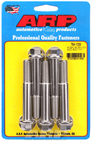 ARP M12 x 1.50 x 80 hex SS bolts 7641009