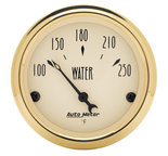 "Autometer Gauge, Water Temp, 2 1/16"", 250şF, Elec, Golden Oldies 1538"