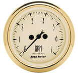 "Autometer Gauge, Tachometer, 2 1/16"", 7k RPM, In-Dash, Black Bzl, Golden Oldies 1594"