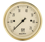 "Autometer Gauge, Tachometer, 3 1/8"", 7k RPM, In-Dash, Black Bzl, Golden Oldies 1595"