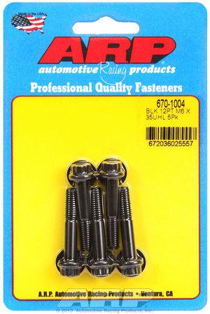 ARP M6 x 1.00 x 35 12pt black oxide bolts 6701004
