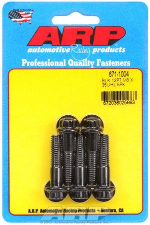 ARP M8 x 1.25 x 35 12pt black oxide bolts 6711004