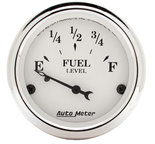 "Autometer Gauge, Fuel Level, 2 1/16"", 73?E to 10?F, Elec, Old Tyme White 1605"
