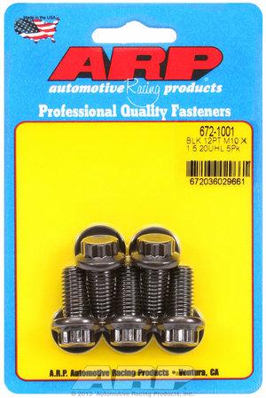 ARP M10 x 1.50 x 20 12pt black oxide bolts 6721001