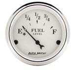 "Autometer Gauge, Fuel Level, 2 1/16"", 240?E to 33?F, Elec, Old Tyme White 1606"