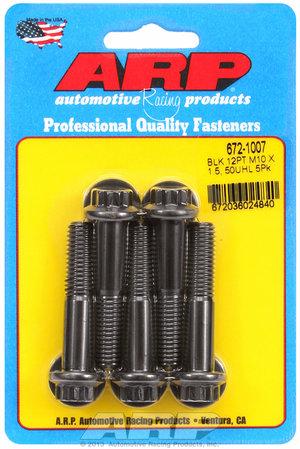 ARP M10 x 1.50 x 50 12pt black oxide bolts 6721007