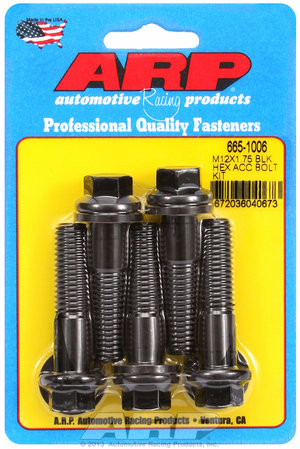 ARP M12 x 1.75 x 50 hex black oxide bolts 6651006