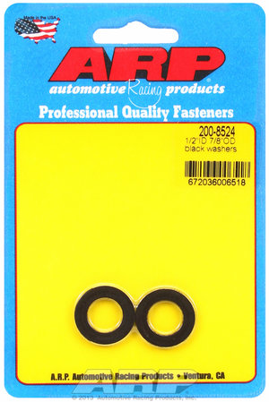 ARP 1/2 ID 7/8 OD black washers 2008524