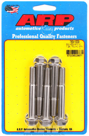 ARP M10 x 1.25 x 70 hex SS bolts 7631009