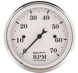 "Autometer Gauge, Tachometer, 3 1/8"", 7k RPM, In-Dash, Old Tyme White 1695"