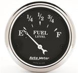 "Autometer Gauge, Fuel Level, 2 1/16"", 0?E to 90?F, Elec, Old Tyme Black 1715"