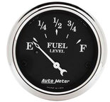 "Autometer Gauge, Fuel Level, 2 1/16"", 240?E to 33?F, Elec, Old Tyme Black 1717"
