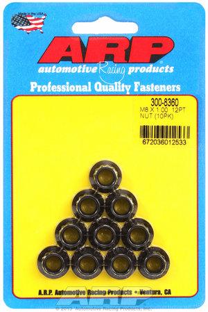 ARP M8 x 1.00 12pt nut kit 3008360