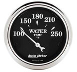 "Autometer Gauge, Water Temp, 2 1/16"", 250şF, Elec, Old Tyme Black 1737"