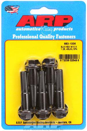 ARP M10 x 1.25 x 45 hex black oxide bolts 6631006