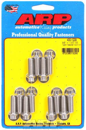 ARP 3/8 x 1.000 SS 12pt header bolt kit 4001209