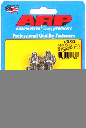 ARP M8 X 1.25 X 57mm broached stud kit - 4pcs 4008005