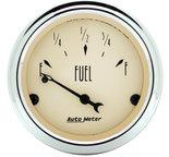 """Autometer Gauge, Fuel Level, 2 1/16"""", 0?E to 90?F, Elec, Antique Beige 1815"""