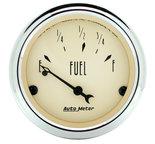 """Autometer Gauge, Fuel Level, 2 1/16"""", 73?E to 10?F, Elec, Antique Beige 1816"""