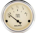 """Autometer Gauge, Fuel Level, 2 1/16"""", 240?E to 33?F, Elec, Antique Beige 1817"""
