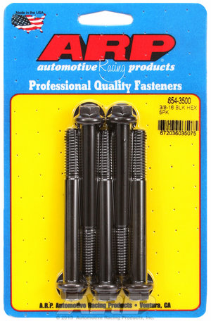 ARP 3/8-16 x 3.500 hex 7/16 wrenching black oxide bolts 6543500