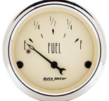 """Autometer Gauge, Fuel Level, 2 1/16"""", 0?E to 30?F, Elec, Antique Beige 1818"""