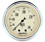 "Autometer Gauge, Water Temp, 2 1/16"", 120-240şF, Mech, Antique Beige 1832"