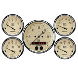 "Autometer Gauge Kit, 5 pc., 3 3/8"" & 2 1/16"", GPS Speedometer, Antique Beige 1850"