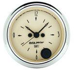 "Autometer Gauge, Clock, 2 1/16"", 12Hr, Analog, Antique Beige 1885"