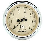 "Autometer Gauge, Tachometer, 2 1/16"", 7k RPM, In-Dash, Antique Beige 1897"