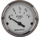 "Autometer Gauge, Fuel Level, 2 1/16"", 0?E to 90?F, Elec, American Platinum 1904"