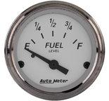 "Autometer Gauge, Fuel Level, 2 1/16"", 73?E to 10?F, Elec, American Platinum 1905"