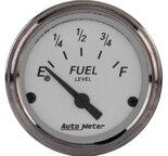 "Autometer Gauge, Fuel Level, 2 1/16"", 240?E to 33?F, Elec, American Platinum 1906"