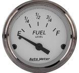 "Autometer Gauge, Fuel Level, 2 1/16"", 0?E to 30?F, Elec, American Platinum 1907"