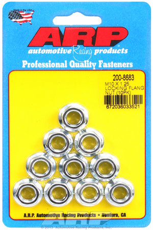 ARP M10 X 1.25 locking flange nut kit 2008683