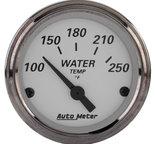 "Autometer Gauge, Water Temp, 2 1/16"", 250şF, Elec, American Platinum 1938"