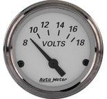 """Autometer Gauge, Voltmeter, 2 1/16"""", 18V, Elec, American Platinum 1992"""