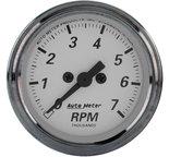 "Autometer Gauge, Tachometer, 2 1/16"", 7k RPM, In-Dash, American Platinum 1994"