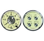 "Autometer Gauge Kit, 2 pc., Quad & Tach/Speedo, 5"", Prestige Antq. Ivory 2004"