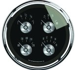 "Autometer Gauge, Quad, 5"", 0?E to 90?F, Elec, Prestige Blk. Diamond 2012"