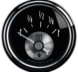 "Autometer Gauge, Fuel Level, 2 1/16"", 0?E to 90?F, Elec, Prestige Blk. Diamond 2014"