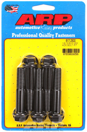 ARP 1/2-13 x 2.500 hex black oxide bolts 6172500