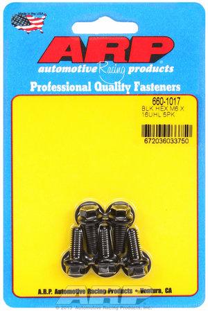 ARP M6 x 1.00 x 16 hex black oxide bolts 6601017