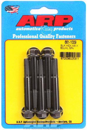 ARP M8 x 1.25 x 60  hex black oxide bolts 6611009