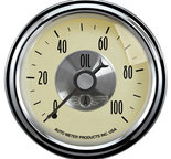 "Autometer Gauge, Oil Press, 2 1/16"", 100psi, Mech, Prestige Antq. Ivory 2021"