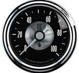 "Autometer Gauge, Oil Press, 2 1/16"", 100psi, Mech, Prestige Blk. Diamond 2022"